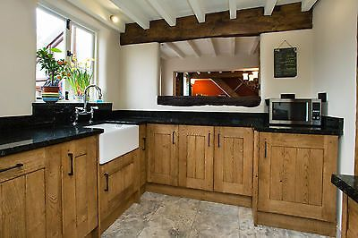 Solid Oak kitchen cabinet doors, drawers, side panels, corner posts ...