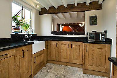 Solid Oak kitchen cabinet doors, drawers, side panels, corner posts ...