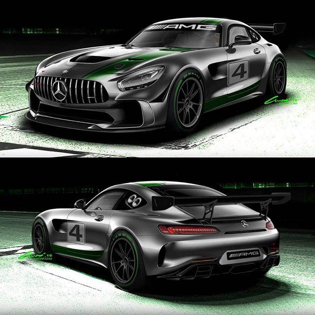 @mercedesamg Will Build An AMG GT4 Racecar! #mercedes