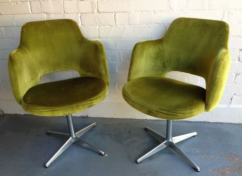 Vintage Kendall Green Velvet Swivel Chair TUB MID Century Featherstone  Dining in Sydney, NSW