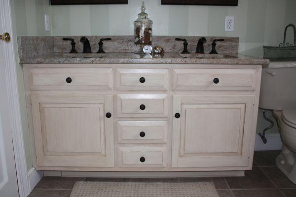 Antiqued Distressed Bathroom Vanity Distressed Bathroom Vanity Bathroom Vanity Painted Vanity Bathroom