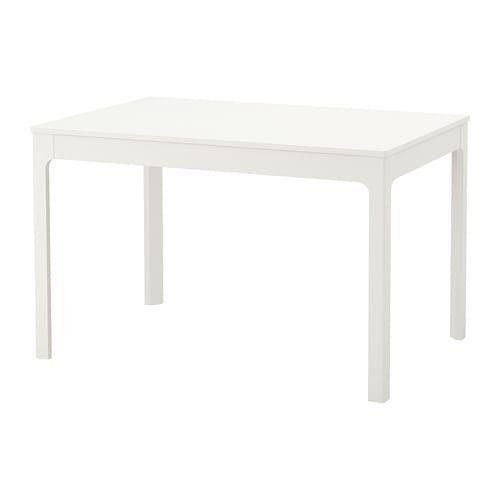 Uitschuifbare Eettafel Ikea Wit.Ekedalen Uitschuifbare Tafel Wit Nieuw Huisje In 2019