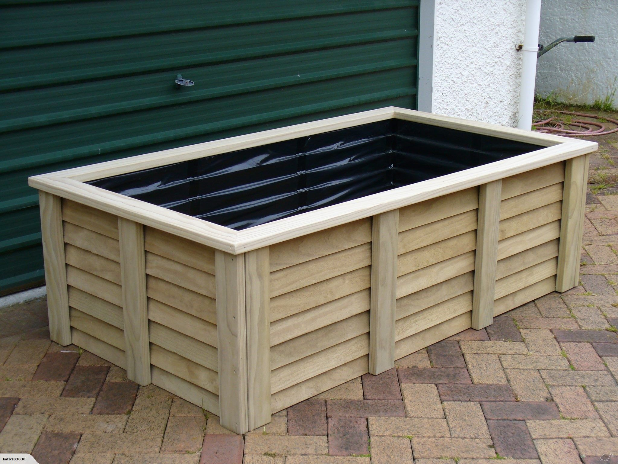 Pin by Lu F on Mum and Dads Garden ideas Wooden raised