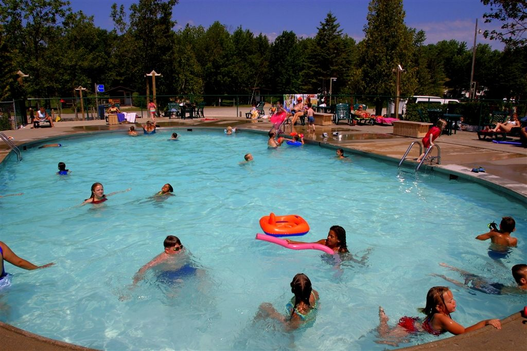 Heated Pool At Mackinaw Mill Creek Camping In Mackinaw City Mi 10am To 10pm In Season Swim At Your Own Risk No Life Photo Tour Camping Park Mackinaw City