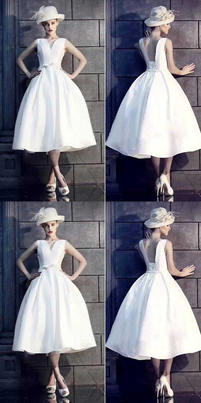 White vintage homecoming dress party cheap homecoming dress vb