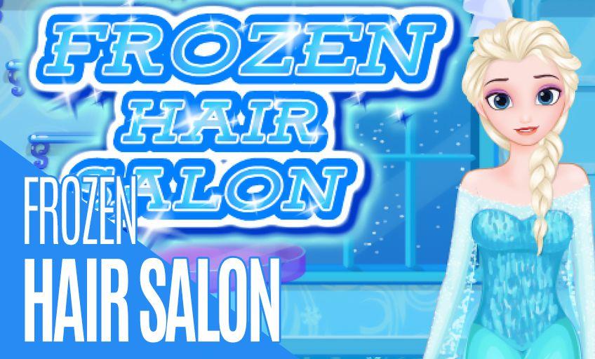 Frozen Hair Salon Hair Salon Girl Games Games For Girls Frozen Hair Cartoon Kids
