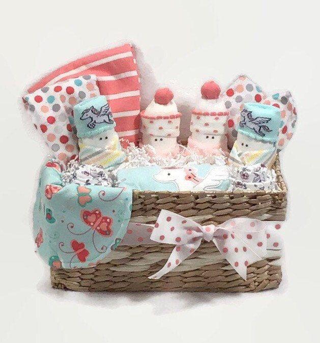 Baby girl gift basket, New mom gift basket, Baby girl gift ...