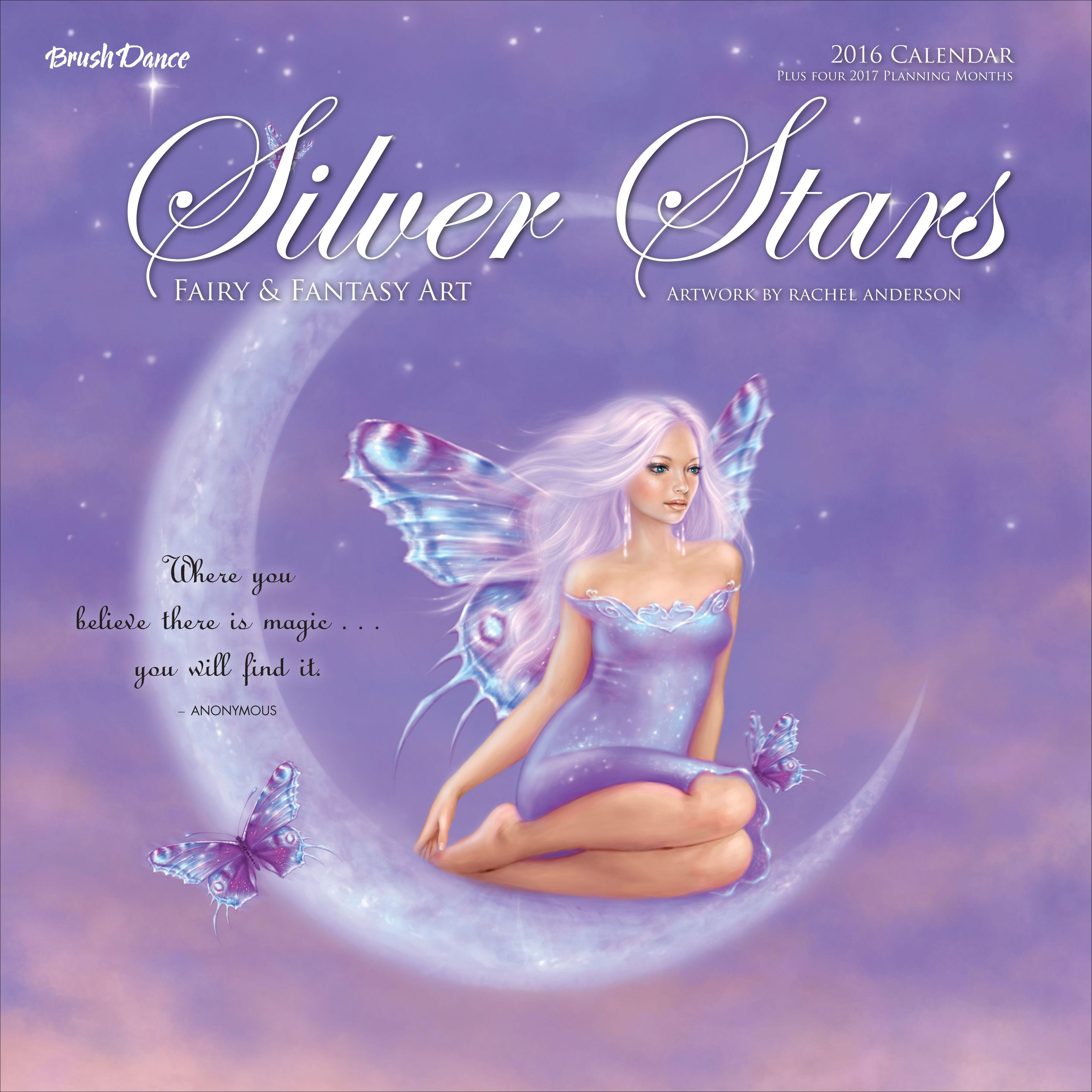 Brush Dance Silver Stars 2016 Wall Calendar Featuring