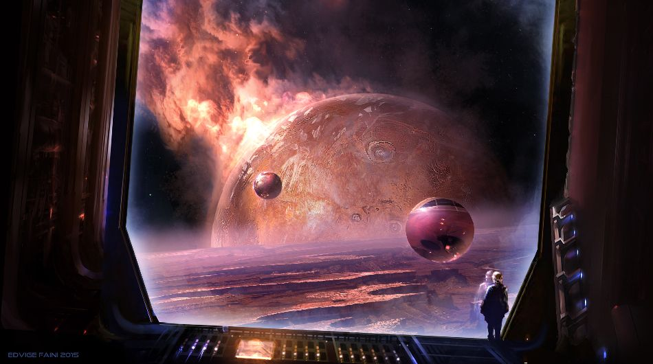 Sci-fi artwork by the awesome Edvige Faini.
