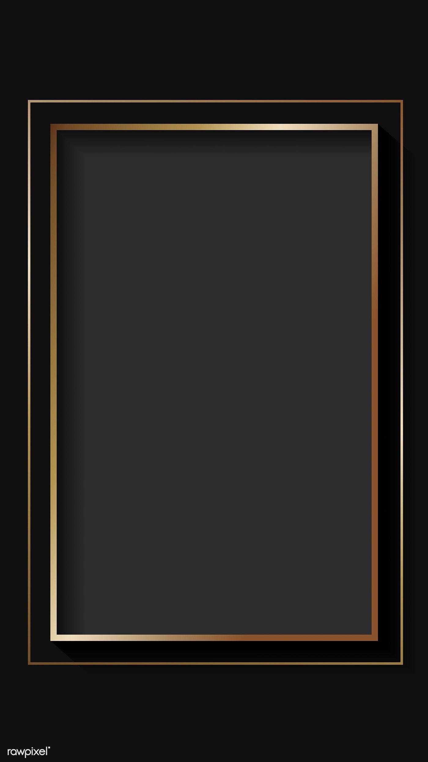 Download Premium Vector Of Blank Rectangle Black Abstract Frame Vector Black Abstract Frame Border Design Poster Background Design