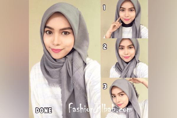 Tutorial Hijab Segi Empat Untuk Kondangan Remaja Blog Lif Co Id