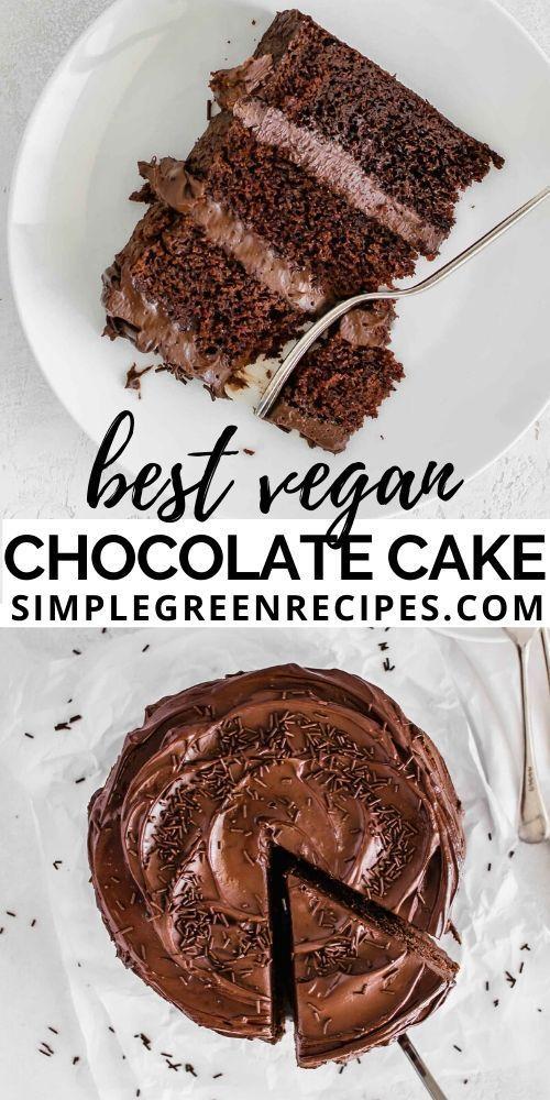 Easy Vegan Chocolate Cake In 2020 Vegan Chocolate Cake Easy Easy Chocolate Desserts Vegan Cake Recipes