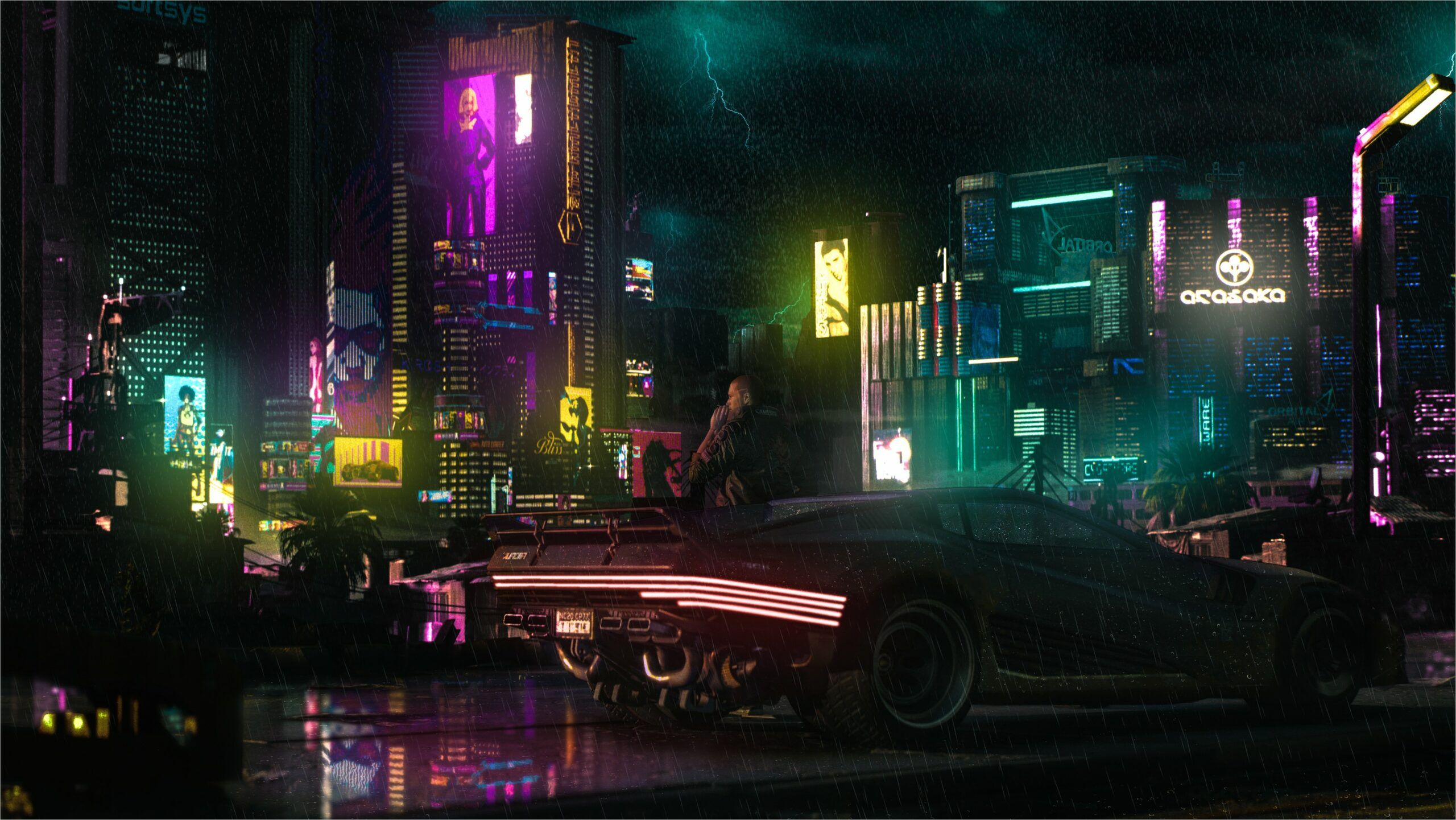 4k Wallpaper Cyber Punk In 2020 Background Images Wallpapers Wallpaper Rain Wallpapers
