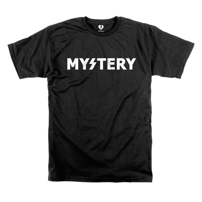 50% off best authentic arrives Mystery (skateboards) shirt... Also happens to be the logo of ...