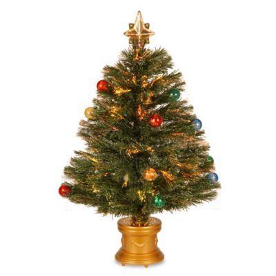 National Tree 32 Inch Fiber Optic Fireworks Christmas Tree Pre Lit Christmas Tree Christmas Tree Lighting Christmas Greenery