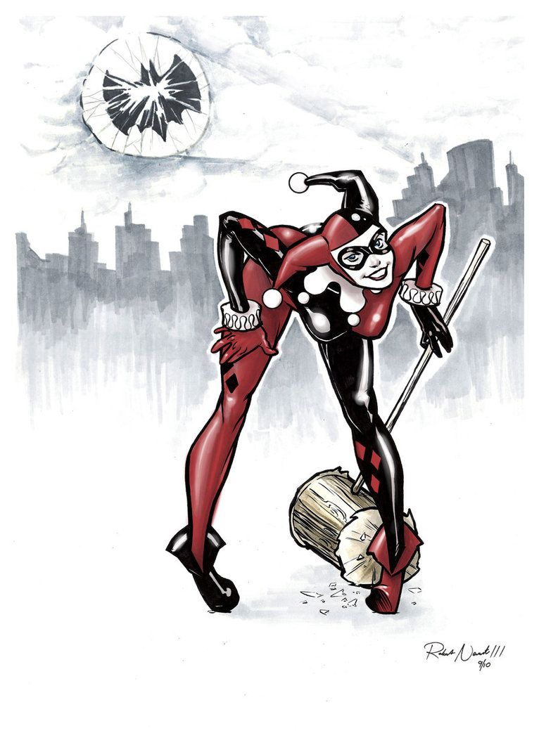 Battle Artist 01 Harley Quinn by ~robthesentinel