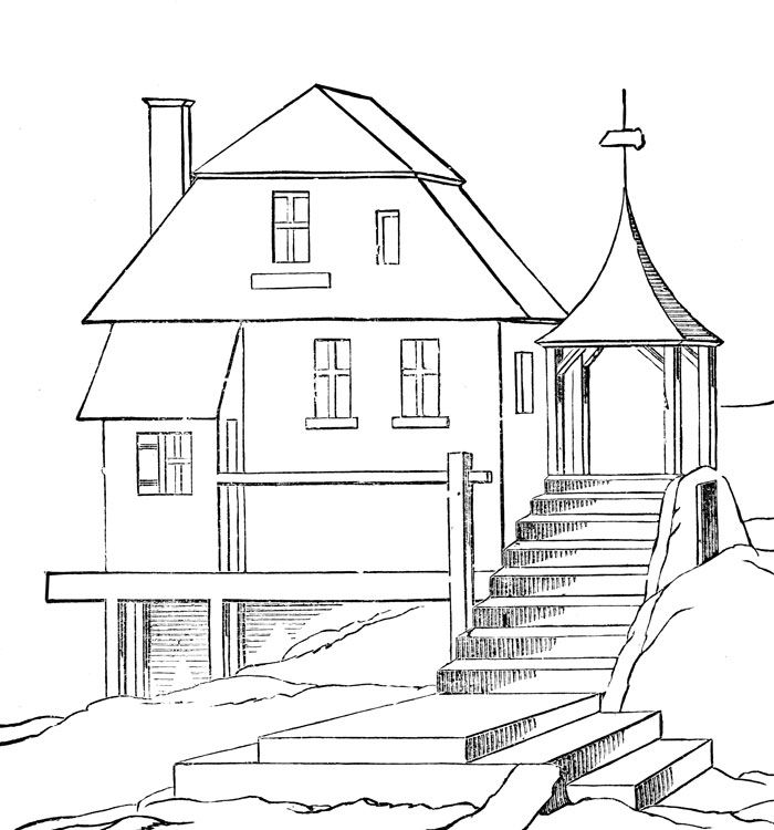 free printable house coloring pages for kids with images
