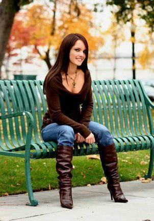 Chica con botas folladas