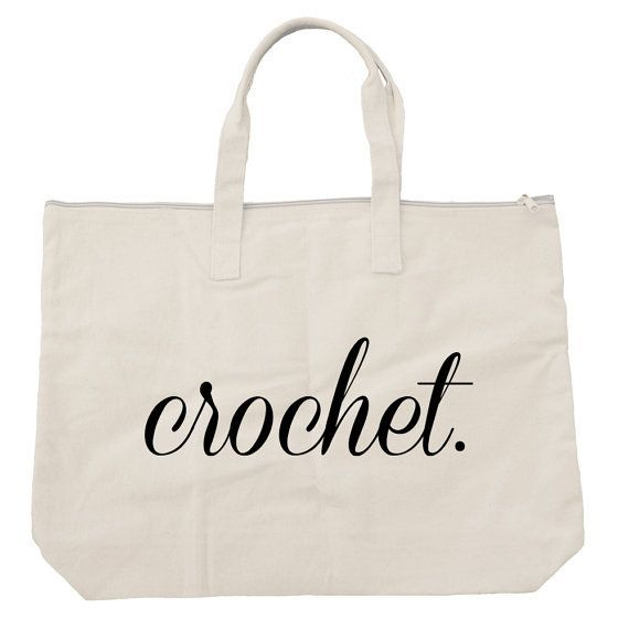 Oversized Cotton Crochet Zippered Tote - carry all - natural color - storage - shopping - purse - organizer - bag - project bag #christmas #idea