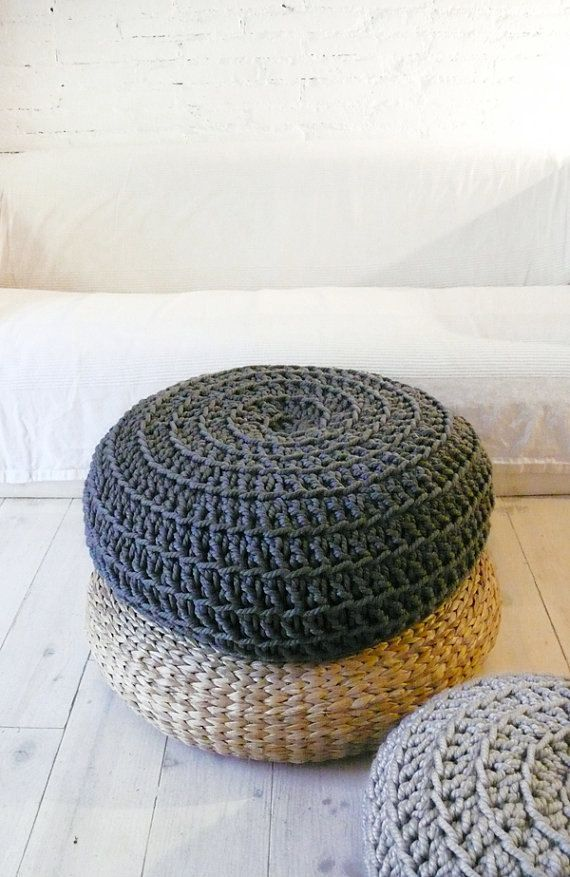 Big Floor Cushion Crochet - Dark Grey | Pinterest | Dunkelgrau ...