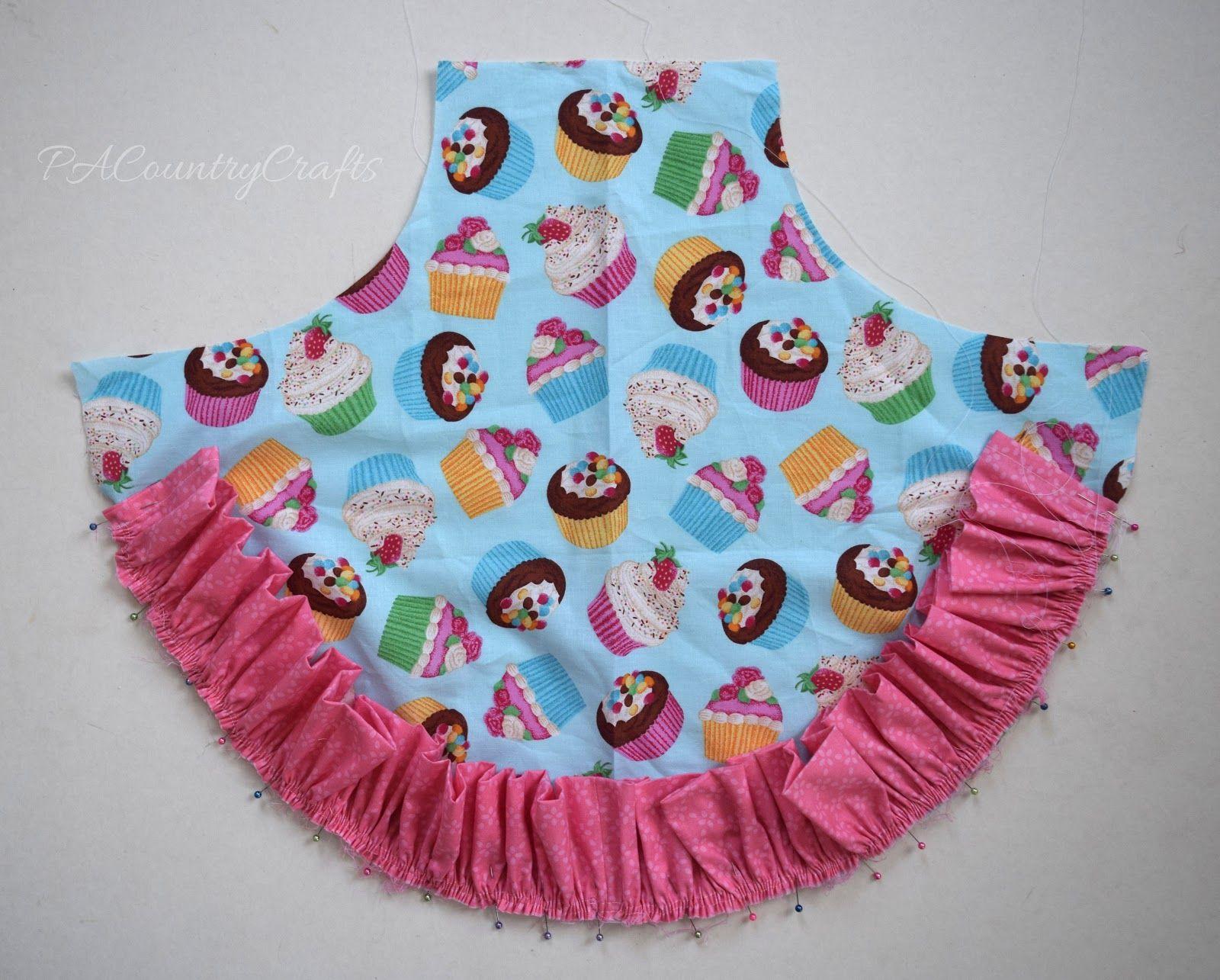 Girls Ruffle Apron Pattern and Tutorial | sewing | Pinterest ...