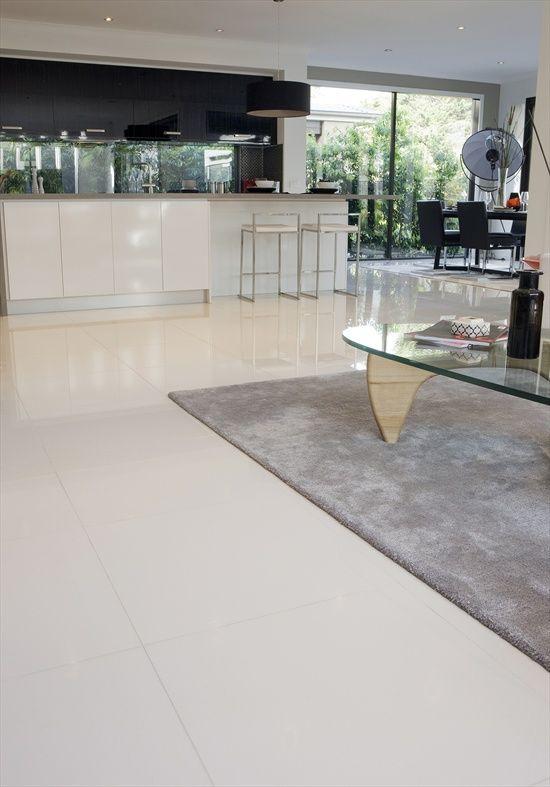 Best Beaumont White Kitchen Floor Tiles Match With Light Grey 400 x 300