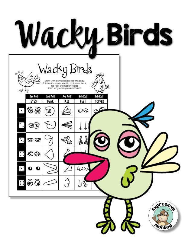 Wacky Birds | Fun drawing games, Drawing activities, Art ...