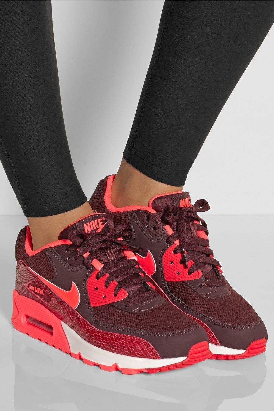huge discount cd126 60bbd Nike - Air Max 1 mesh and snake-effect leather sneakers