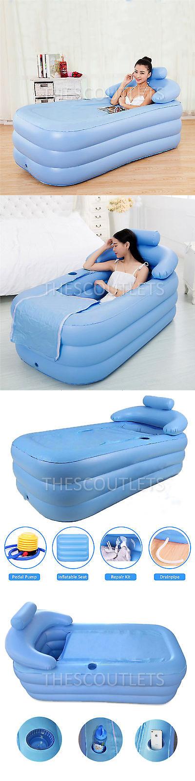 Bathtubs 42025: Adult Pvc Folding Portable Inflatable Bathtub Spa ...
