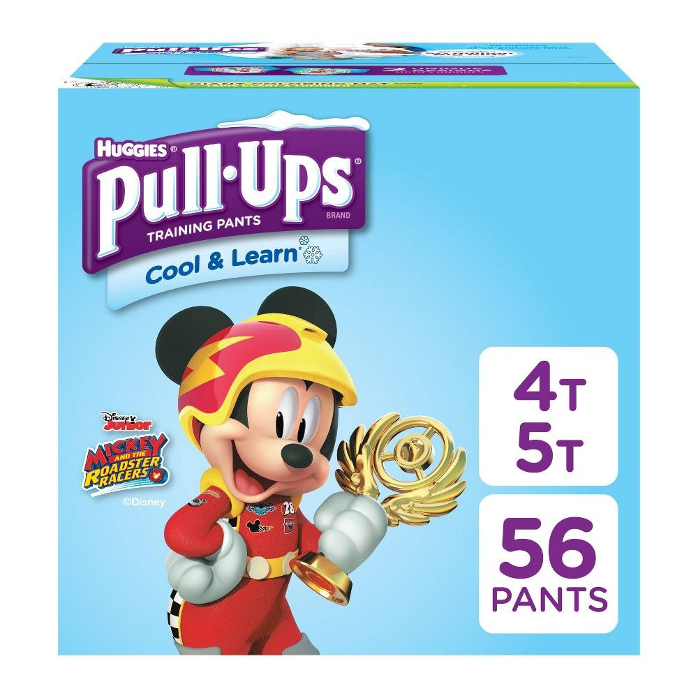 Huggies Pull Ups Boys Cool Learn Training Pants Size 4t 5t 56ct Huggies Pull Ups Toddler Potty Training Toddler Potty