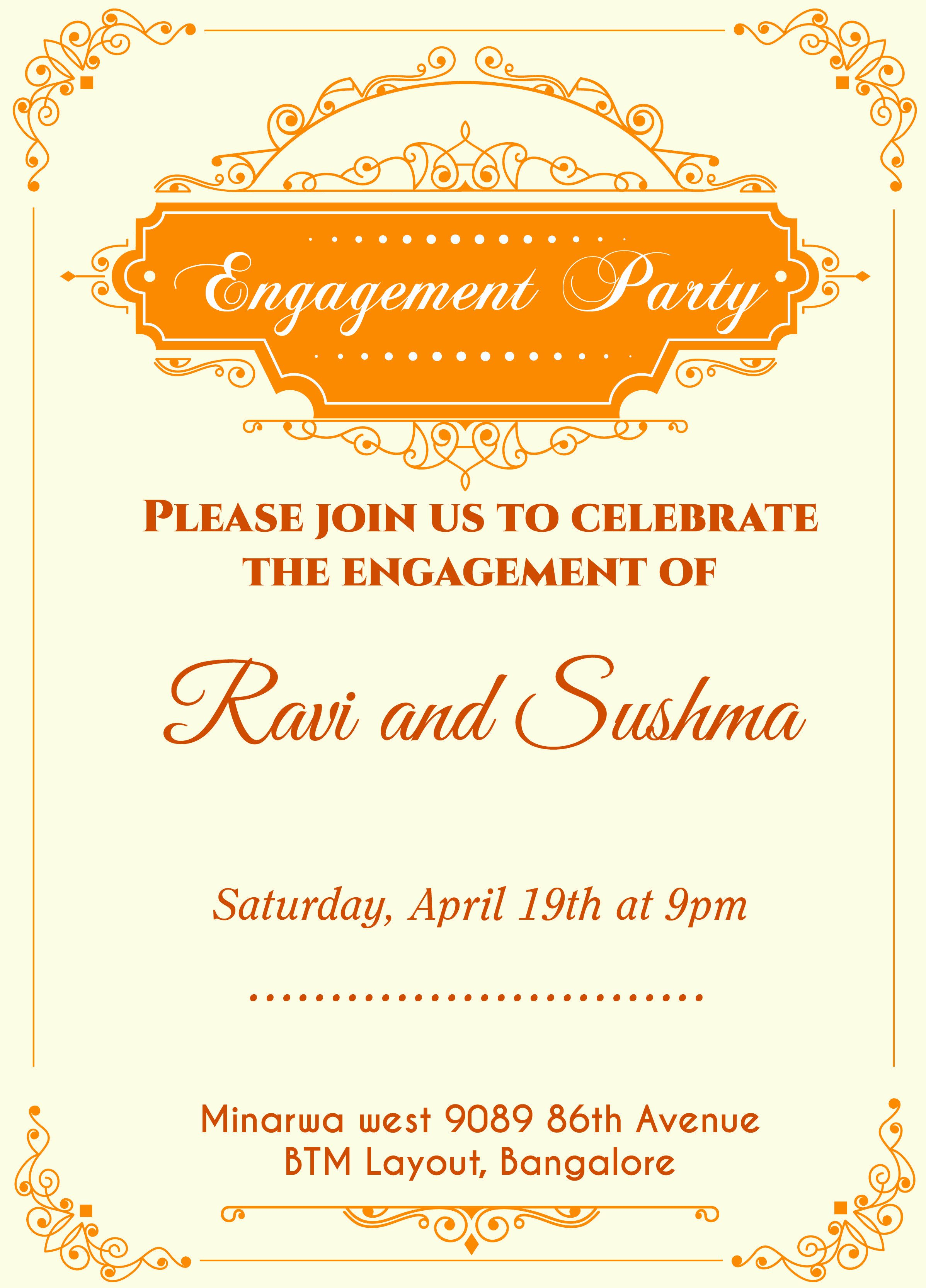 Engagment Party Invitation Wording Lovely Indian Engagement Invitation C Engagement Invitation Template Engagement Invitation Cards Free Engagement Invitations