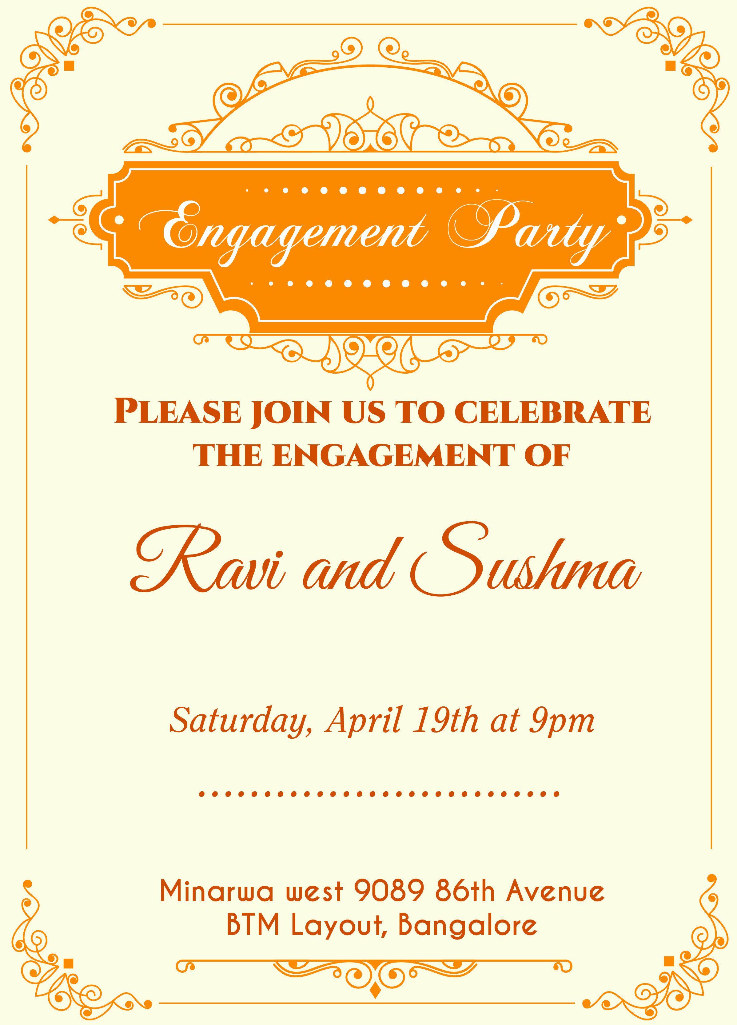 10 New Ideas Engagement Card Invitation Maker Engagement Invitation Cards Engagement Invitation Wording Engagement Invitations