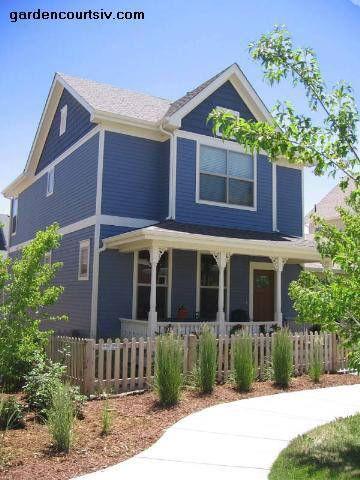 Paredes de color azul en interior y exterior decorando for Ideas para pintar la casa exterior