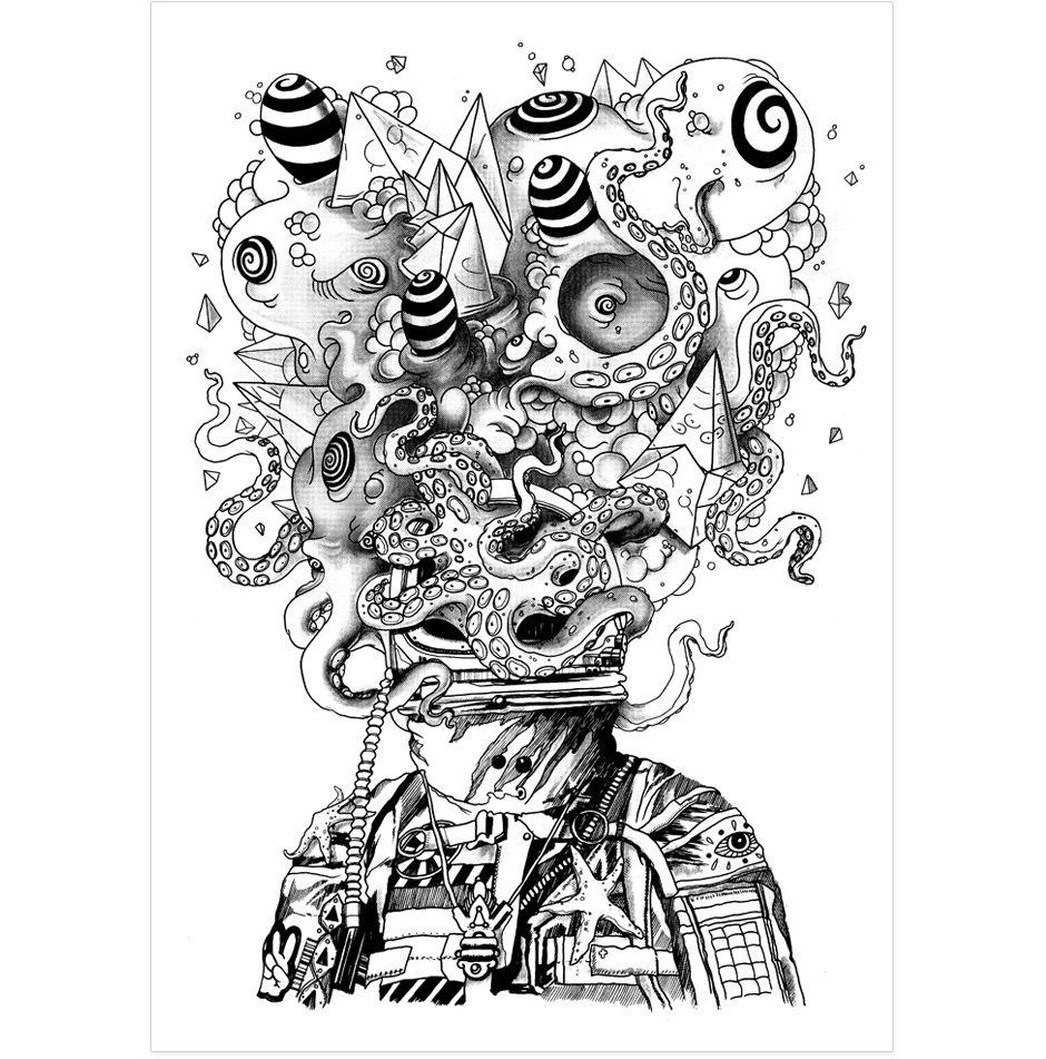 Explosion | Illustration | Pinterest | Illustrations, Zentangle and ...