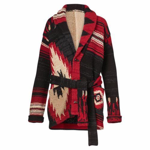 Generalmente hablando Voluntario ceja  Vtg Polo Ralph Lauren Southwestern Aztec Indian Patchwork Knit Sweater  Cardigan   Knit sweater cardigan, Cardigan, Denim and supply