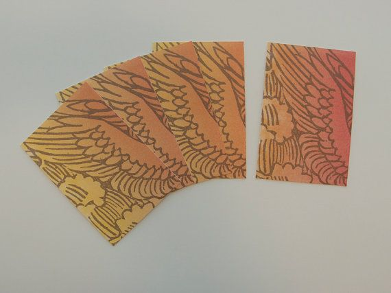 """Letterpress Printed Card (Set of 5): """"A Winged Note"""""""