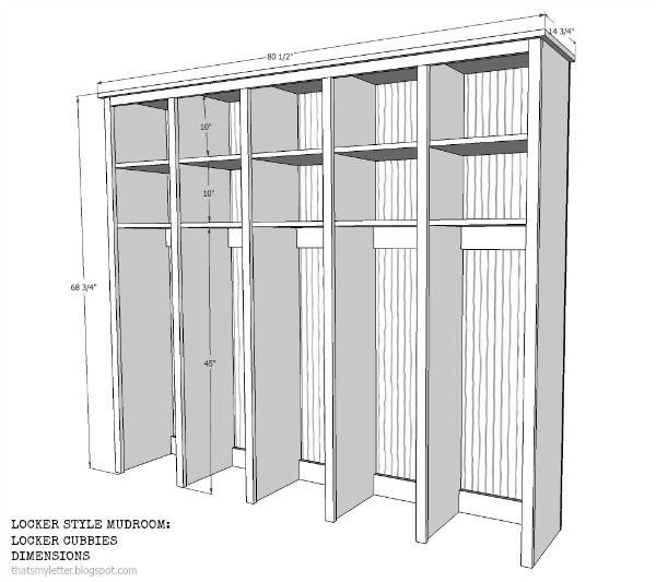 Mudroom Storage Dimensions : As promised last week i m back sharing the locker style