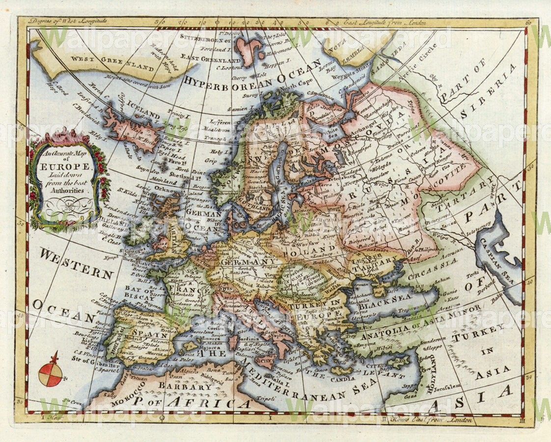Historical map of Europe | wallpaper | Historical maps, Map, Antique ...