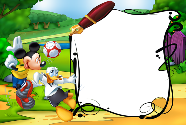 Mickey Mouse and Duck Kids Transparent PNG Photo Frame ...