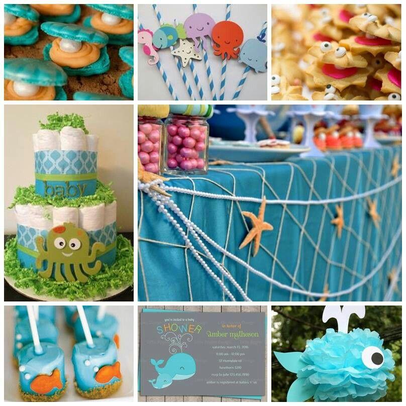 sea themed baby shower time for children pinterest themed baby
