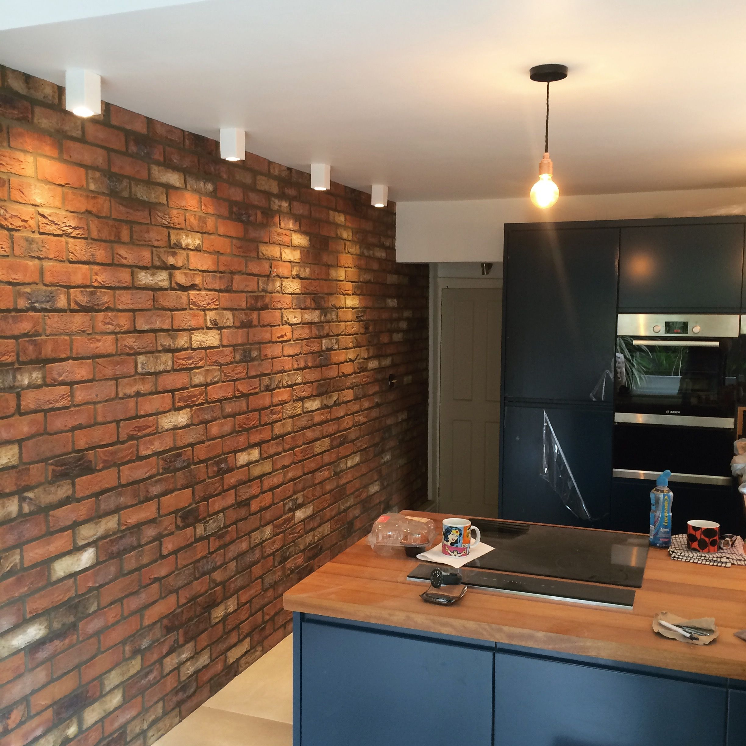 41 Brick slips for the home ideas | brick, home, brick kitchen