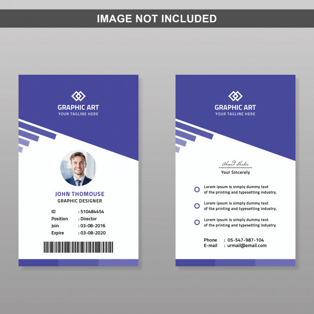 Premium Psd Id Card Template Pertaining To Id Card Design Template Psd Free Download In 2021 Id Card Template Card Template Identity Card Design