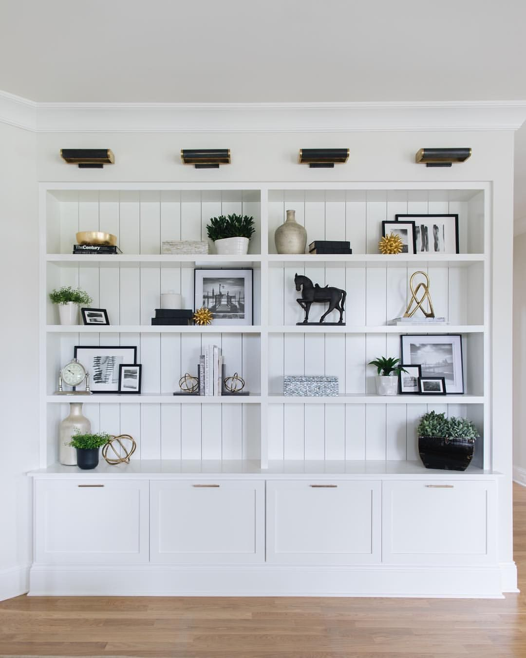 Vertical Shiplap Wins Again Really Love It In The Back Of This Built In Bookcase Shot For Timbertrail Farmhouse Family Rooms Room Shelves Family Room Design