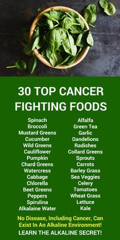 30 TOP CANCER FIGHTING FOODS  No disease, including cancer, can
