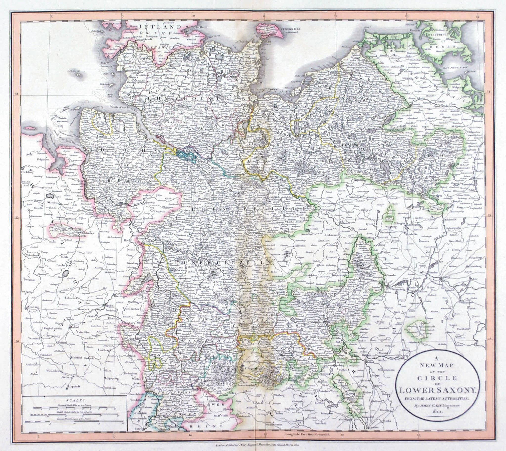 Large detailed map of Lower Saxony Maps Pinterest Lower Saxony
