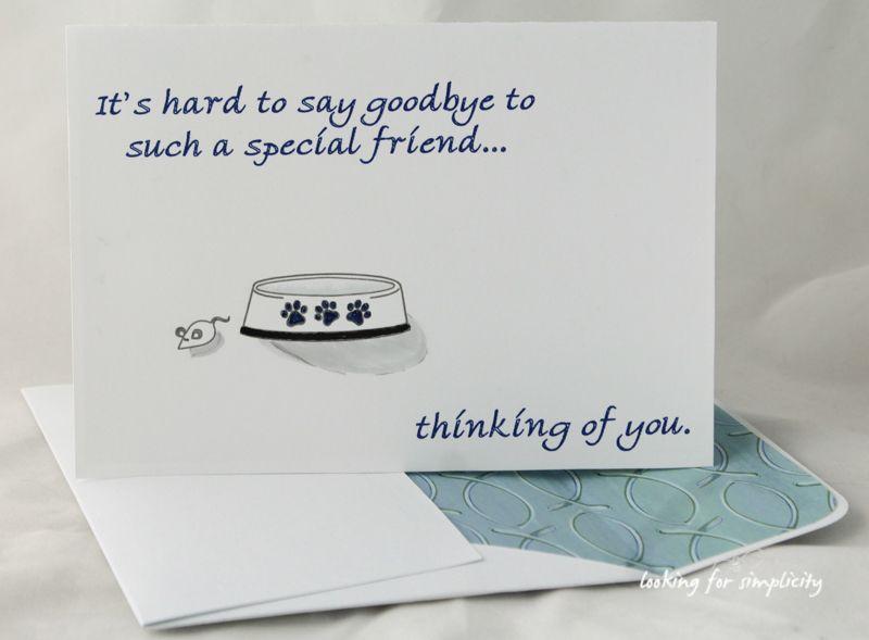 sympathy card for pet