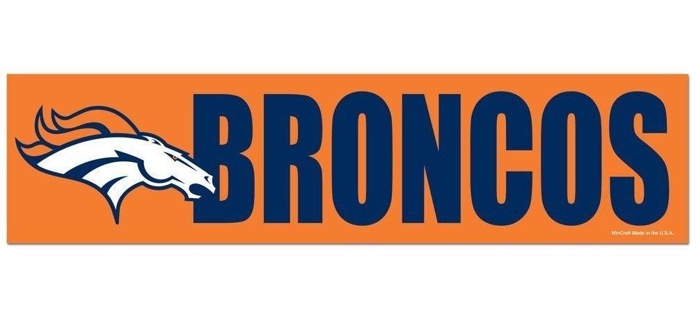 Denver broncos bumper sticker new 3 x 11 inches free shipping wincraft
