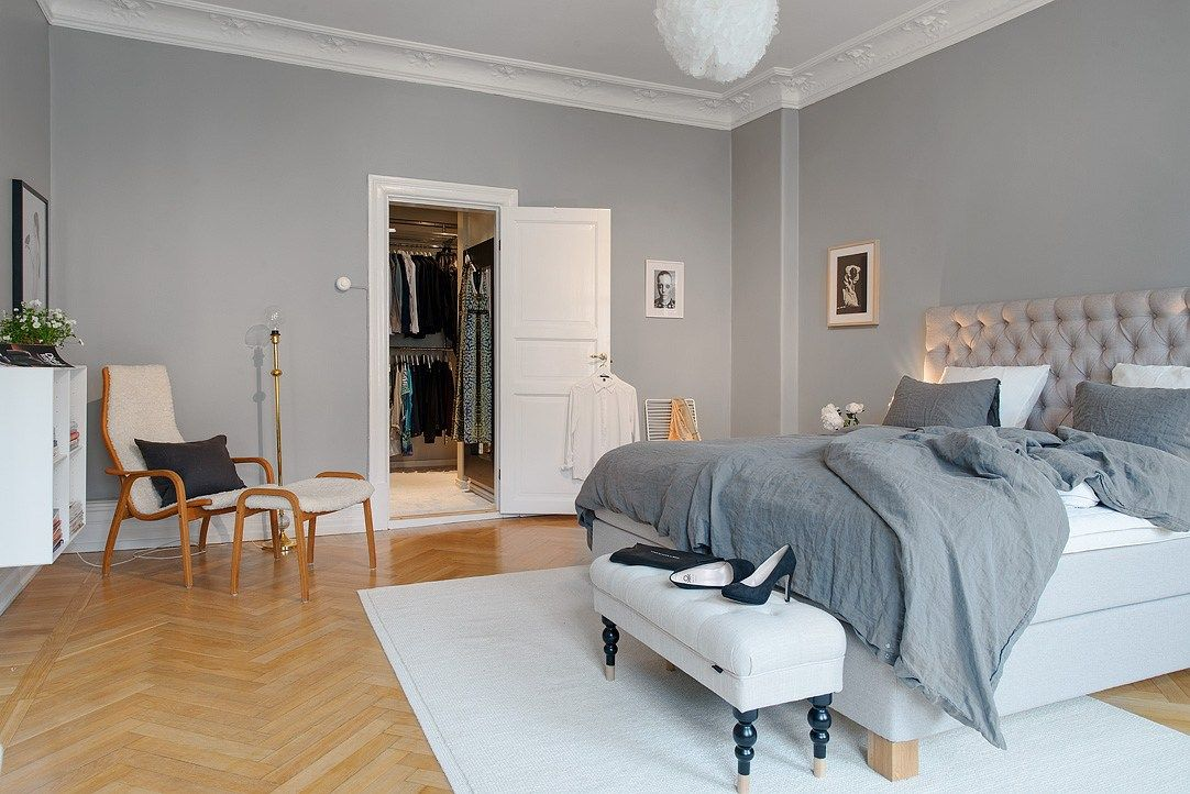 Resultado de imagen para habitaciones en color claro - Habitaciones color gris ...