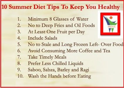 10 Summer Diet Tips To Keep You Healthy   | Tip of the Day | Diet