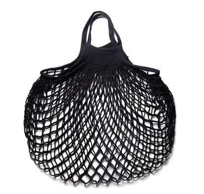 French Cotton Net Bag (Black) - Kaufmann Mercantile